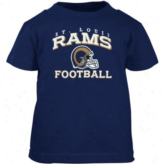 Saint Louis Rams Shirts : Reehok Saint Louis Rams Nvay Blue Stacked Shirts