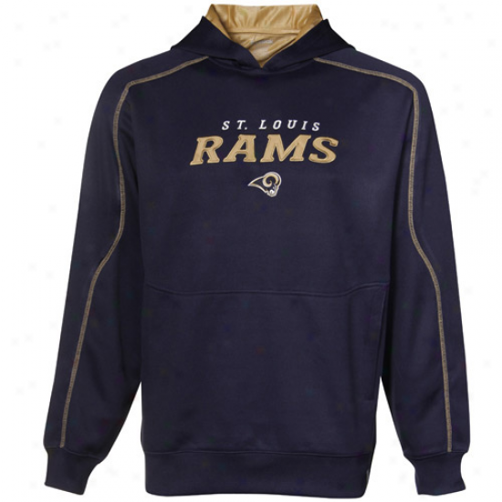 Saint Louis Ramw Sweatshirt : Reebok Szint Louis Rams Navy Blue Active Pullover Sweatshirt