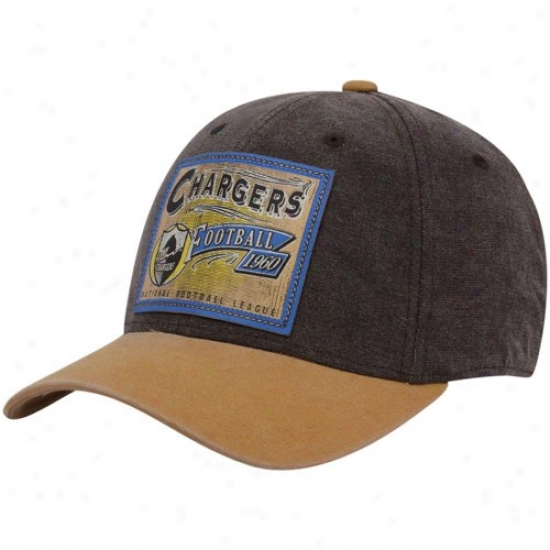 San Diego Charger Cap : Reebok San Diego Charger Brown Pro Shape Fiex Cap