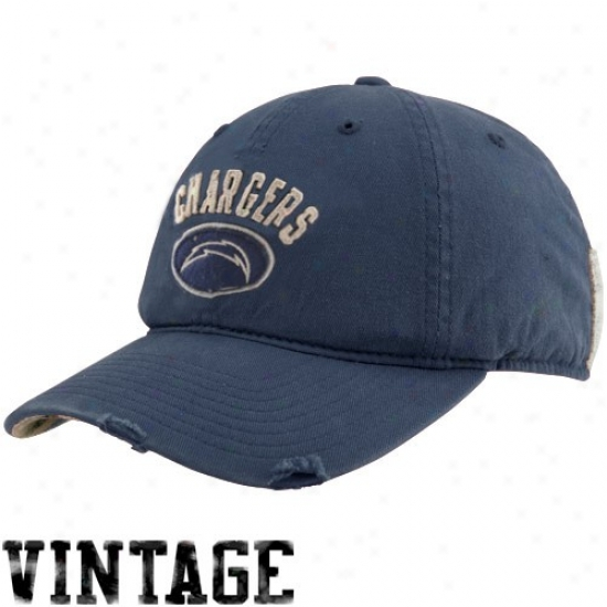San Diego Charger Gear: Reebok San Diego Charger Navy Blue Vintage Adjustable Slouch Hat