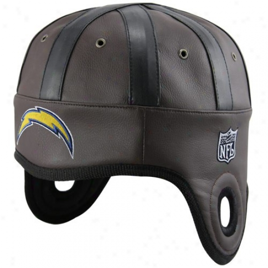 San Diego Charger Hat : San Diego Charger Brown Helmet Head