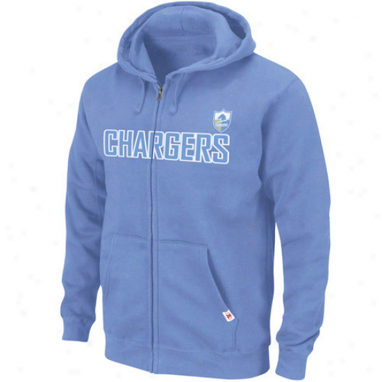 San Diego Charger Sweat Shirt : San Diego Charger Light Blue Legacy Classic Heavyweight Full iZp Sweat Shirt