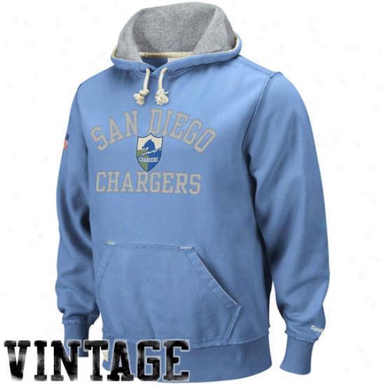San Diego Charger Sweatshirt : Reebok San Diego Carger Electric Blue Vintage Pullover Sweatshirt