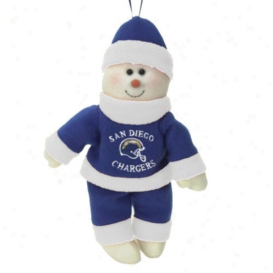 San Diego Chargers 10-inch Snowflake Friend Plush