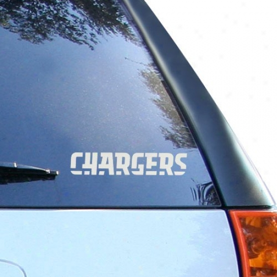 San Diego Chargers 5'' X 6'' Silver Window Graphic Decal