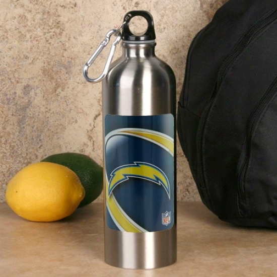San Diego Chargers 750ml Stainless Steel Water Bottle W/ Carabiner Clip