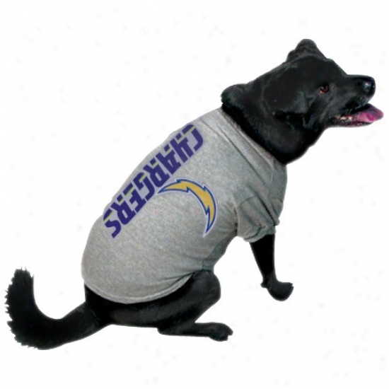 San Diego Chargers Ash Logo Pet T-shirt