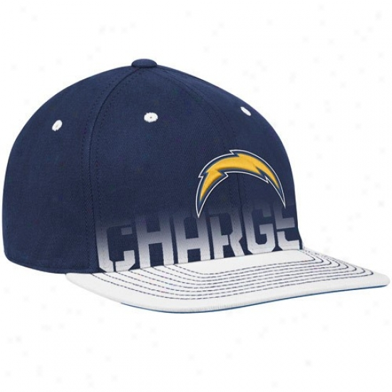 San Diego Chargers Caps : Reebok San Diego Chargers Youth Navy Blue Pro Shape Player Flat Brim Flex Caps