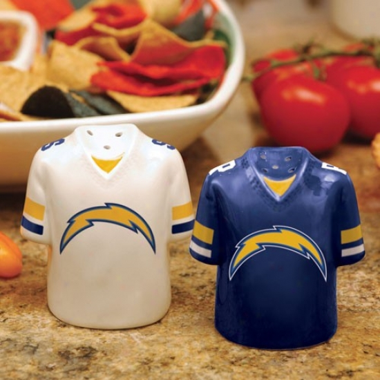 San Diego Chargers Gameday Ceramic Salt & Pepper Shakers