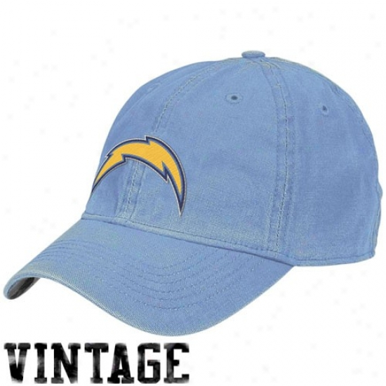 San Diego Chargers Gear: Reebok San Diego Chargers Light Blue Inlet  Flex Fit Vintage Hat