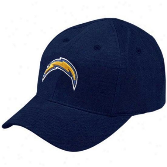 San Diego Chargers Gear: Reebok San Diego Chargers Toddler Navy Blue Basic Logo Adjustable Hat