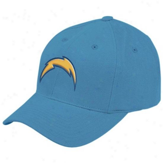 San Diego Chargers Gear: Reebok San Diego Chargers Light Blue Youth Basic Logo Adjustable Hat