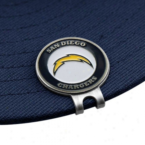 San Diego Chargers Golfer's Hat Clip & Ball Markeds