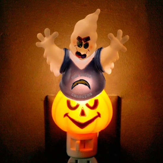 San Diego Chargers Halloween Ghost Darkness Ligut