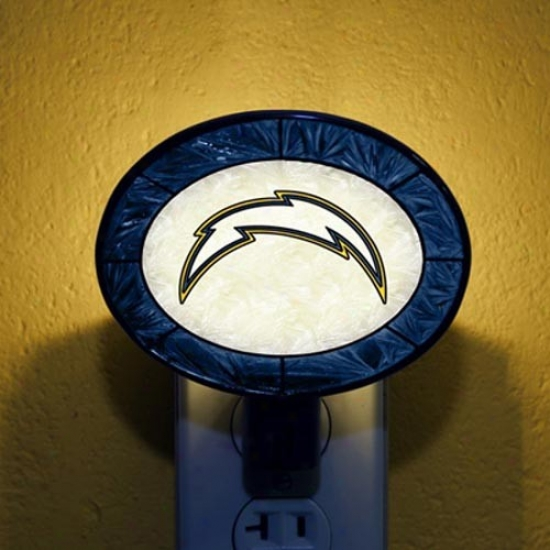 San Diego Chargers Hand-painted Glass Nightlight