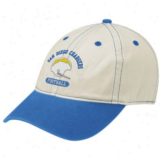 San Diego Chargers Hat   Reebok San Diego Chargers Natural Retro Helmet Slouch  Flex Fit Hat f45e74422
