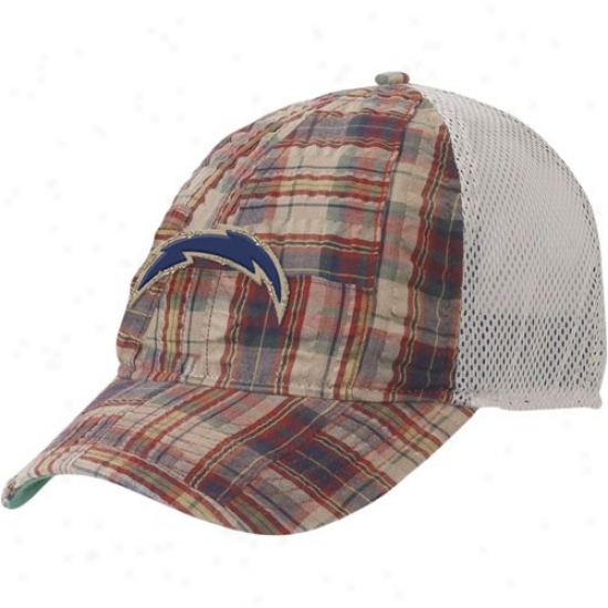San Diego Chargers Hat : Reebok San Diego Cnargers Plaid Mesh Back Adjustable Hat