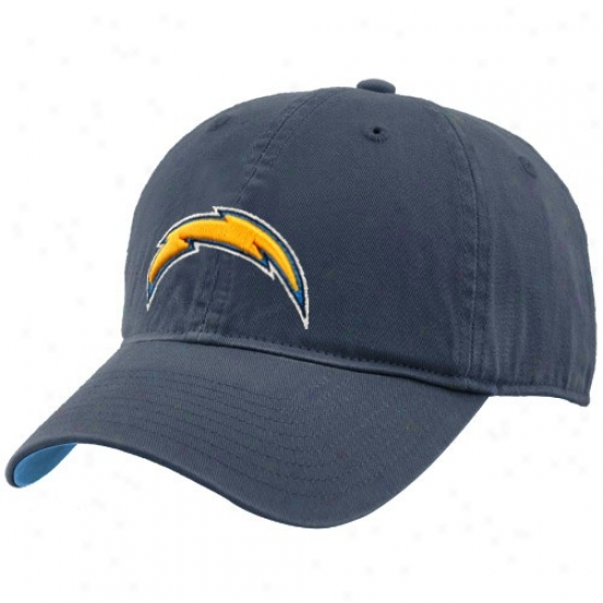 San Diego Chargers Hats : Reebok San Diego Chargers Navy Blue Youth Basic Logo Slouch Hats