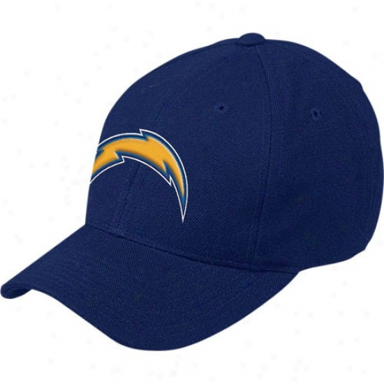 San Diego Chwrgers Merchqndise: Reebok San Diego Chargers Navy Blue Basic Logo Wool Blend Hat