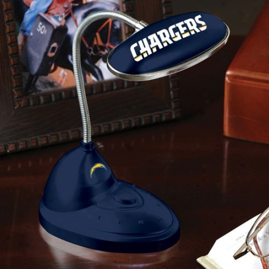 San Diego Chargers Navy Blue Led Desk Lamp