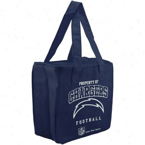 San Diego Chqrgers Navy Blue Reusable Insulated Tote Bag