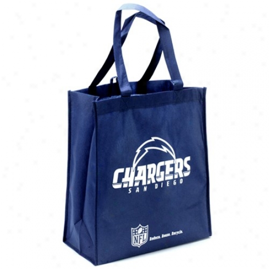 San Diego Chargers Navy Blue Reusable Tote Bag