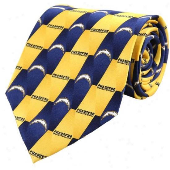 San Diego Chargers Pattern 1 Silk Tie