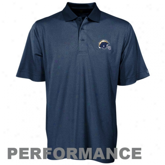 San Diego Chargers Polos : Cutter & Buck San Diego Chargers Navy Blue Drytec Birdsrye Performance Polos