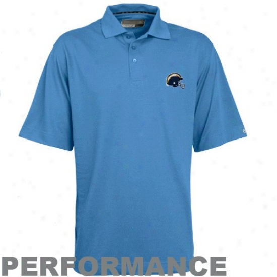San Diego Chargers Polos : Cutter & Buck San Diego Chargers Light Blue Champions Drytev Performance Polos