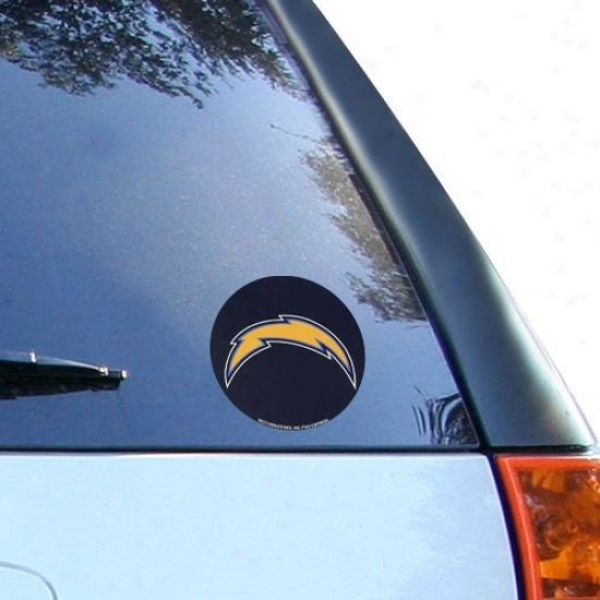 San Diego Chargers Round Vinyl Decal