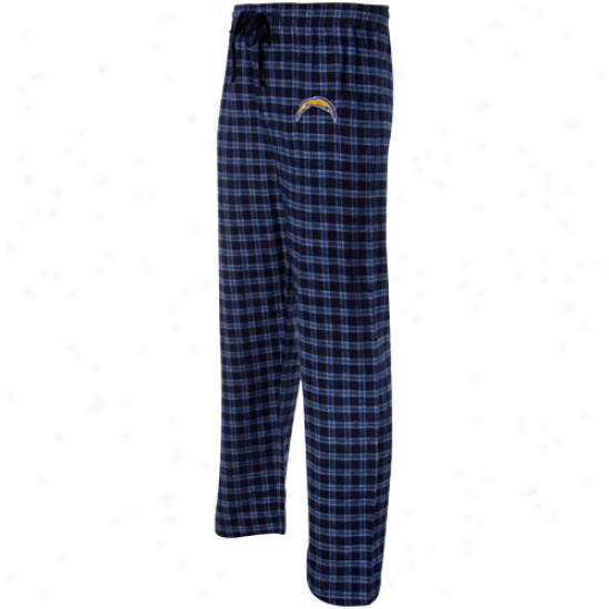 San Diego Chargers Royal Blue Plaid Fly Pattern Ii Pajama Pants