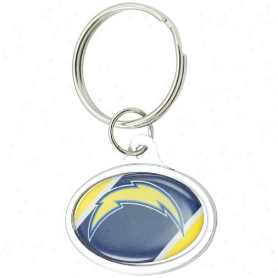 San Diego Chargers Small Oval Keychain