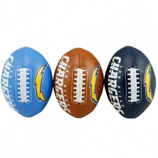 San Diego Chargers Softee 3 Foitball Set