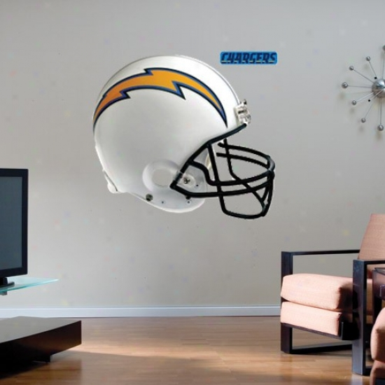 San Diego Chargers Team Helmet Fathead Wall Sticker