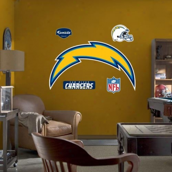 San Diego Chargers Team Logo Fathead Wall Sticker