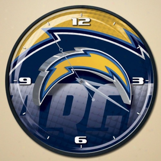San Diego Chargers Wall Clodk