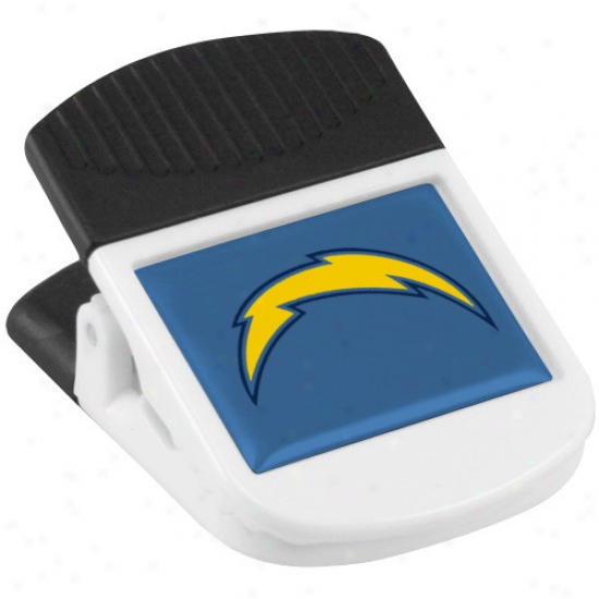 San Diego Chargers White Magnetic Chip Clip