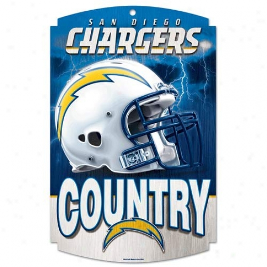 San Diego Chargers Wood Sign