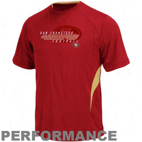San Francisco 49er Alparel: San Francisco 49er Cardinal Fan Feed Iii Performance T-shirt