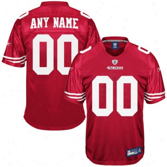 San Francisco 49er Jersey : Reebok Nfl Equipment San Francisco 49er Cardinal Authentic Customizedd Jersey
