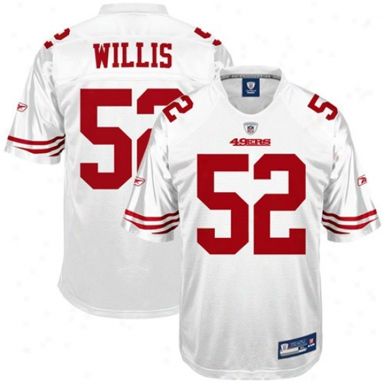 San Francisco 49er Jersseys : Reebok Nfl Equipment San Francisco 49er #52 Patrick Willis Youth White Replica Football Jerseys