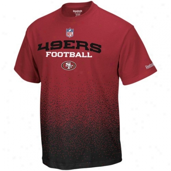San Francisco 49er Shirt : Reebok San Francisco 49er Youth Cardinal Drift Sideline Shirt