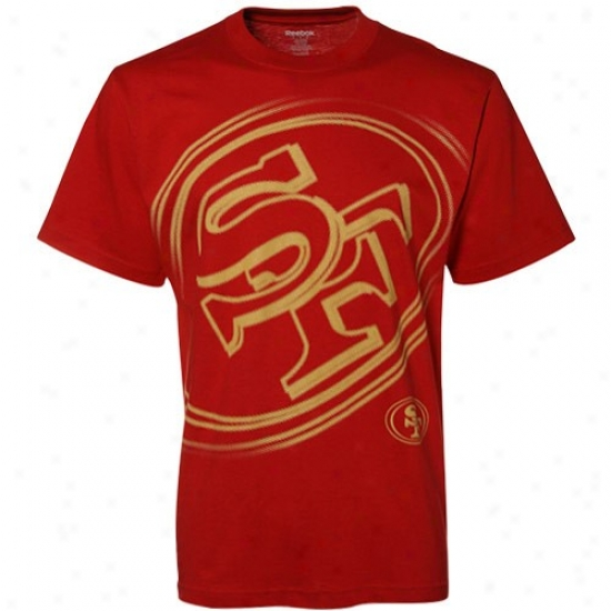 San Francisco 49er Shirts : Reebok San Francisco 49er Cardinal Vast Logo Shirts