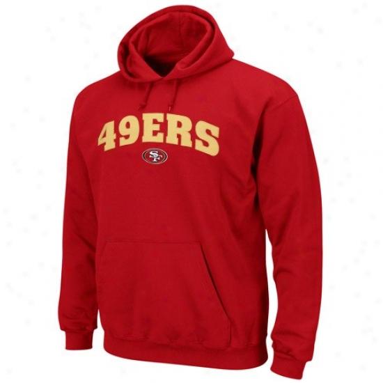 San Francisco 49er Sweatshirt : San Francisco 49er Scarlet Classic Sweatshirt Iii Pullover Sweatshirt