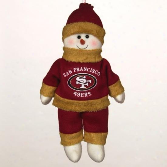 San Francisco 49ers 10-inch Snowflake Friend Plush