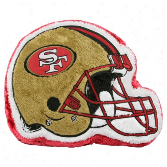 San Francisco 49ers 14'' Team Helmet Plush Pillow