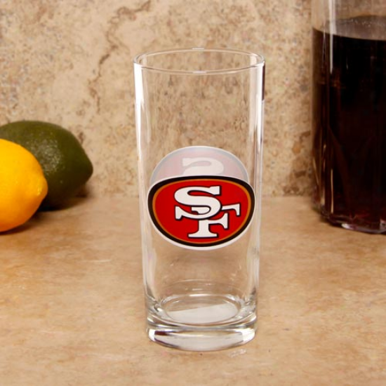 San Francisck 49ers 15oz. Satin Etched Glass