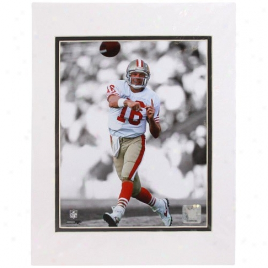 """san Francisco 49ers #16 Joe Montana Spotlight Assemblage 11"""" X 14"""" Matted Photo"""