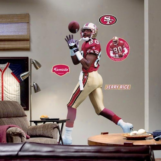 San Francisco 49ers #80 Jerry Rice Player Fathead