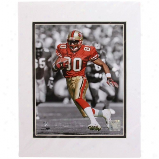 """san Francisco 49ers #80 Jerry Rice Spotlight Collection 11"""" X 14"""" Matted Poto"""
